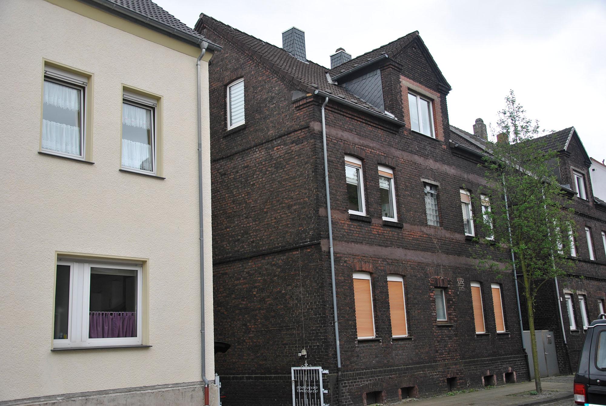 Vorderansicht eines Mehrfamilienhauses in Herne
