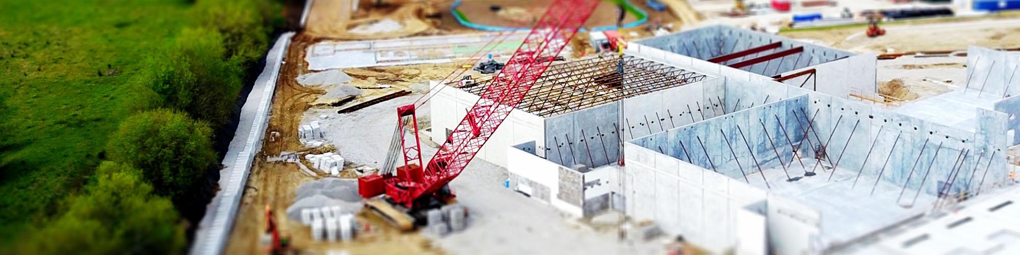 Baustelle einer Bauträger-Immobilie