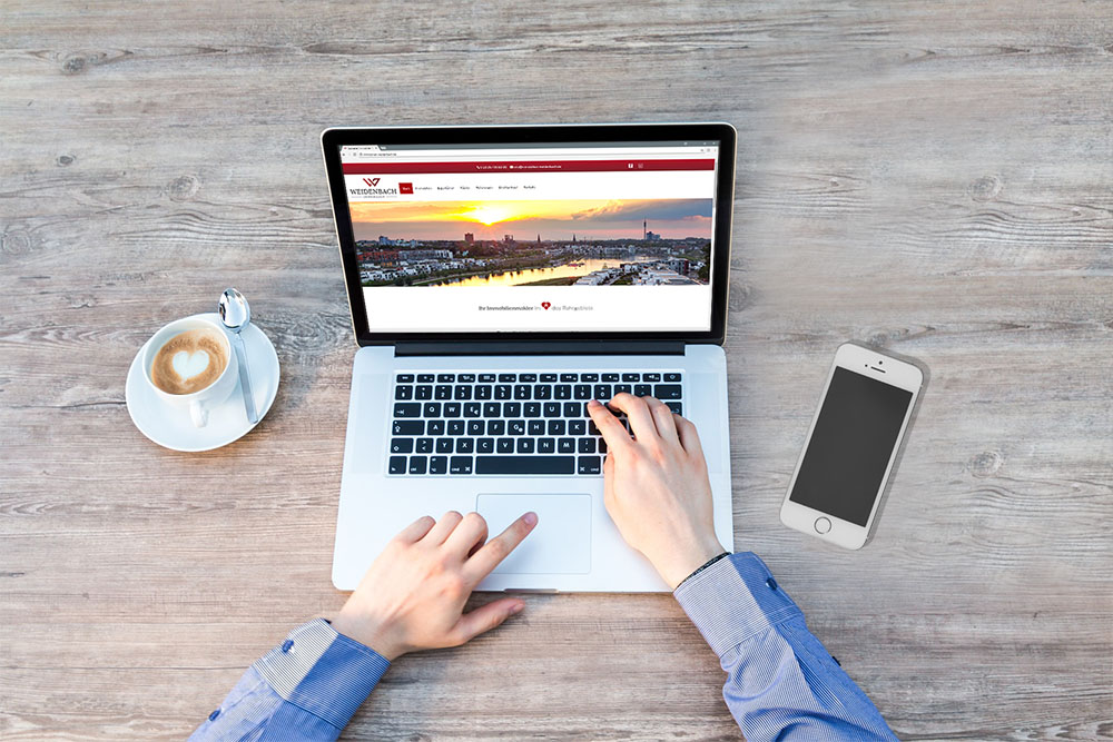 Online-Besichtigung von Immobilien in Herne und Umgebung auf der Weidenbach Immobilien-Webseite