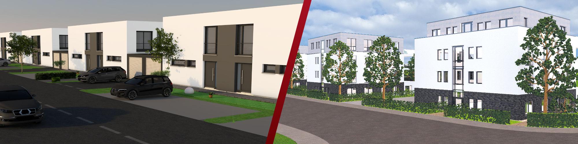 Neubauprojekte von Immobilien Weidenbach: Neubauprojekte in Herne und Dortmund