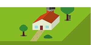 Immobilienbewertungsicon Einfamilienhaus