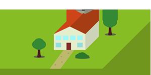 Immobilienbewertungsicon Mehrfamilienhaus