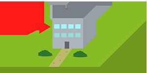 Immobilienbewertungsicon Wohnung