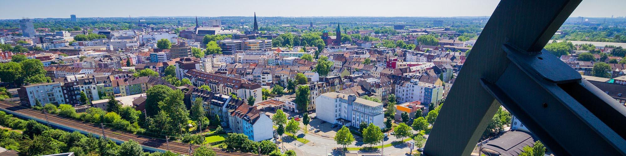 Weidenbach Immobilien Herne: Immobilien in Bochum gesehen von dem Deutschen Bergbaumuseum
