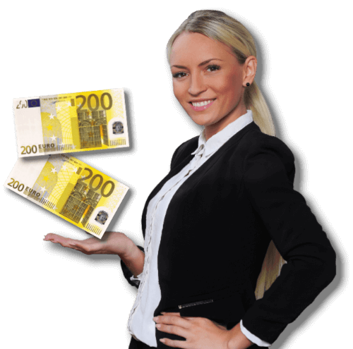 Immobilienmaklerin Juliane Degen mit 2 200 Euro Scheinen