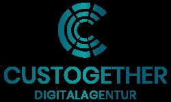Logo der Digitalagentur Custogether für Webdesign, Printdesign und Hosting
