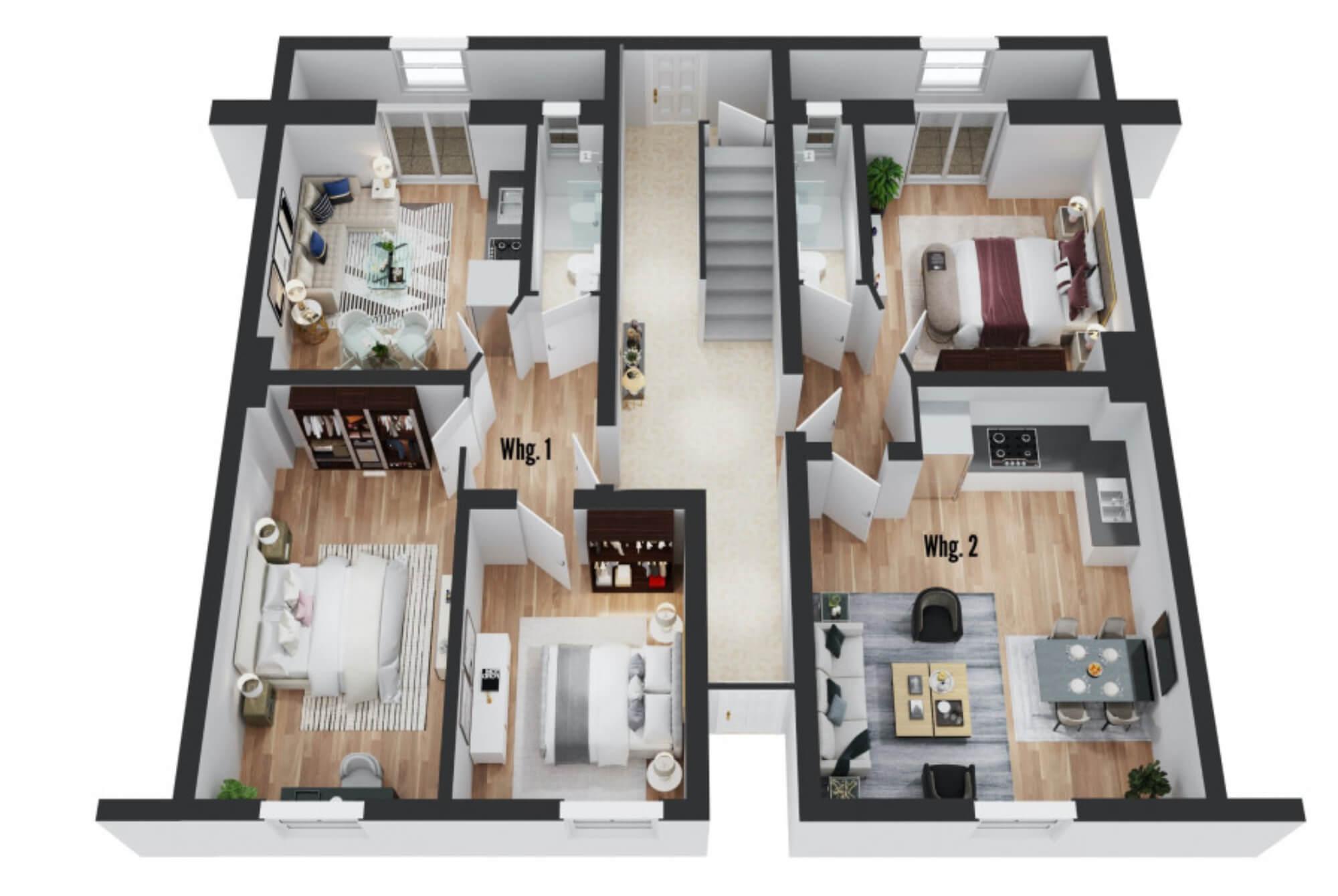 Zuhause ist mein Glücksmoment! Kernsanierte 2-Zimmer-Wohnung im Erdgeschoss mit Loggia!